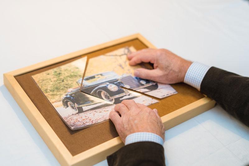 Einfaches Alzheimer Puzzle mit bekannten Bildern